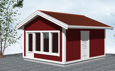 Bygga attefallshus på prickad mark