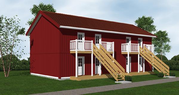 Hustillverkare Ljusnehus Flerfamiljshus