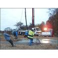 Återuppbyggnad av djurstall efter brand - Gusselby, gjutning av platta