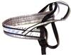 Spårsele alac svart med påsydd reflex och grå satinfodrat bröstband - Visa mer information om den här produkten