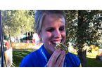 En glad guldmedaljör på EM i Swansea 2014