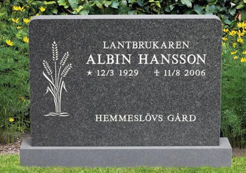Tillverkning av gravstenar - Hambergs Stenhuggeri