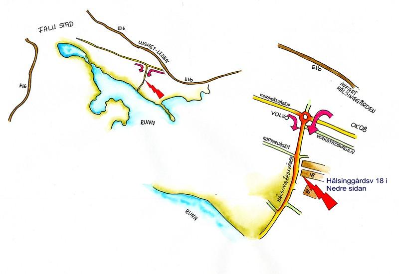 Karta till Ateljé Nil