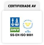 Certifierade av ISO 9001