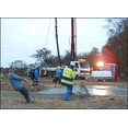 Återuppbyggnad av djurstall efter brand- Gusselby, gjutning av av platta