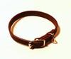 Läderhalsband mörkbrun 22mm bredd - Visa mer information om den här produkten