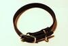 Läderhalsband svart 22mm bredd - Visa mer information om den här produkten