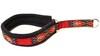 Nomehalsband röd inkamönster med svart fleece - Visa mer information om den här produkten