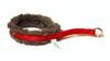 Nomehalsband 10mm röd med grå pilefoder - Visa mer information om den här produkten