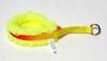 Nomehalsband 10mm solfärg med gult fleecefoder - Visa mer information om den här produkten