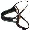 Småhundssele alac svart m grön satinfodrat bröstband - Visa mer information om den här produkten
