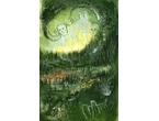 """Green wood"" 20x38 cm - Akrylmålning - Privat ägo"