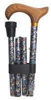 Käpp vikbar med silvriga blommor - Visa mer information om den här produkten