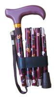 Käpp vikbar mörk lila 5delar - Visa mer information om den här produkten