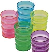 Rillekruset dricksglas i plast - Visa mer information om den här produkten