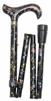 Käpp vikbar Svart blommig - Visa mer information om den här produkten
