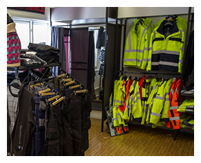 Skyddskläder, profilkläder, arbetskläder